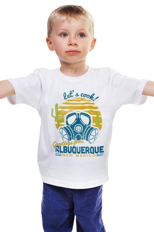 цена Детская футболка классическая унисекс Printio Let's cook! greating from albuquerque new mexico онлайн в 2017 году