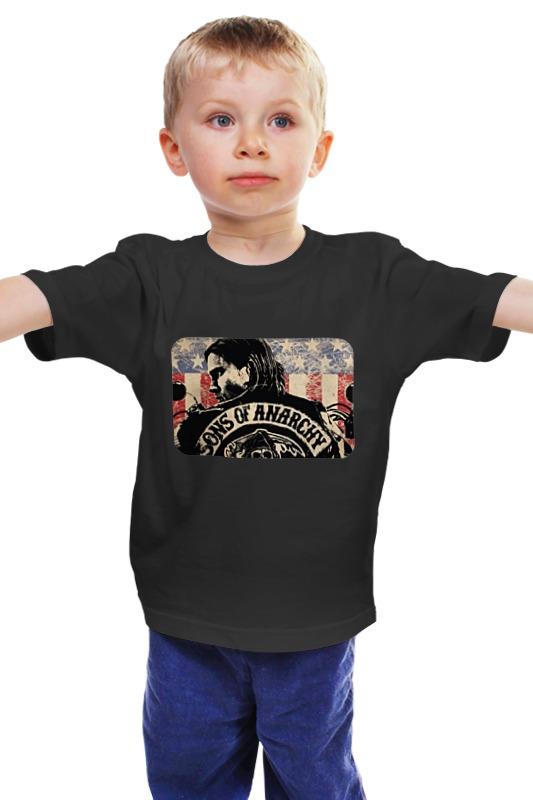 Детская футболка классическая унисекс Printio Sons of anarchy - black детская футболка классическая унисекс printio сыны анархии