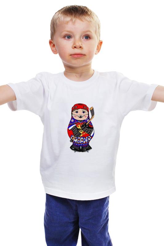Детская футболка классическая унисекс Printio Матрешка хоккеист детская футболка классическая унисекс printio матрешка