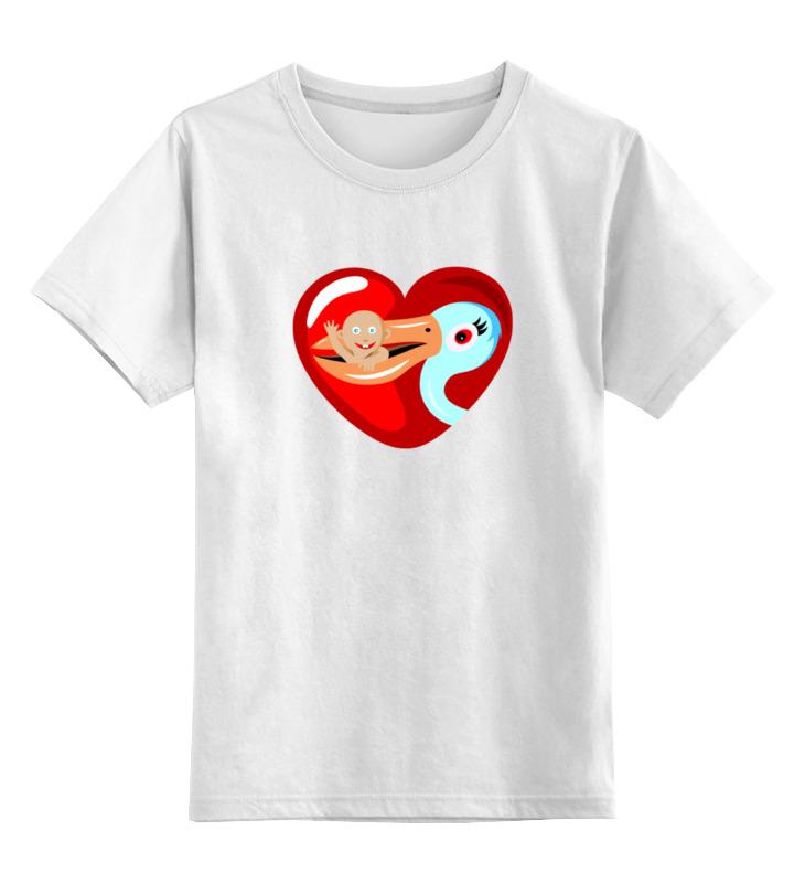 Детская футболка классическая унисекс Printio Аист ребенок мфу hp deskjet 2130 all in one k7n77c