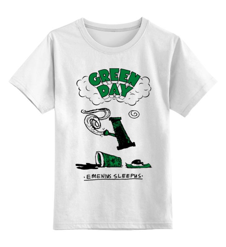 Детская футболка классическая унисекс Printio Green day
