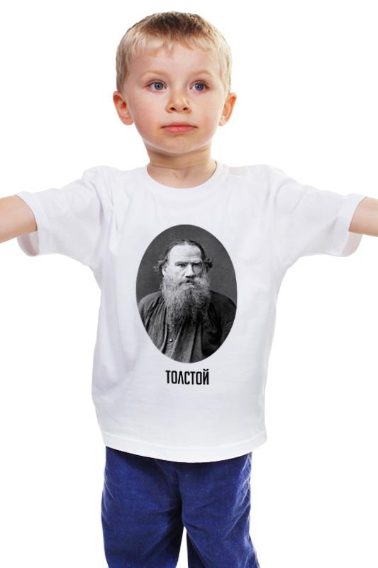 Детская футболка классическая унисекс Printio Лев толстой детская футболка классическая унисекс printio лев