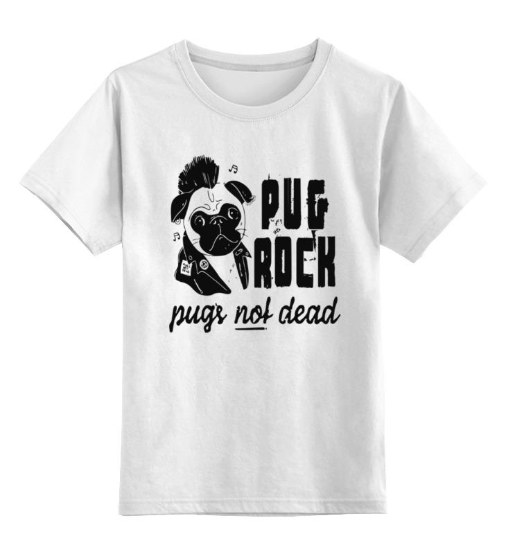 Детская футболка классическая унисекс Printio Pug rock детская футболка классическая унисекс printio rock