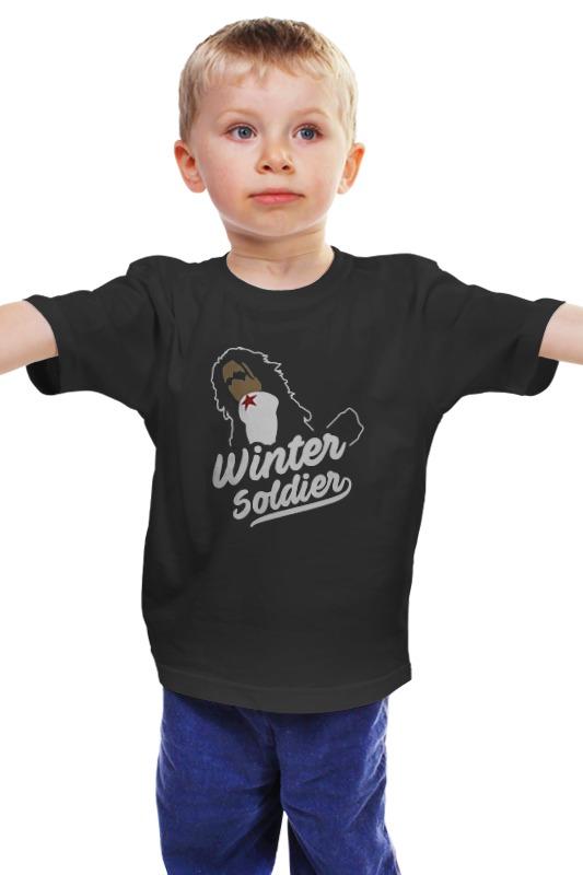 Детская футболка классическая унисекс Printio Зимний солдат (капитан америка)