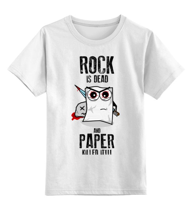 Детская футболка классическая унисекс Printio Rock is dead лонгслив printio rock is dead