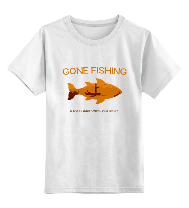 Детская футболка классическая унисекс Printio Gone fishing майка классическая printio gone fishing