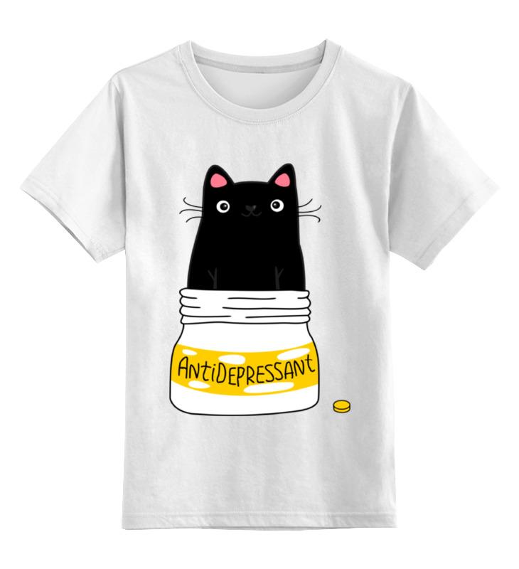 Printio Антидепрессант детская футболка классическая унисекс printio котейка