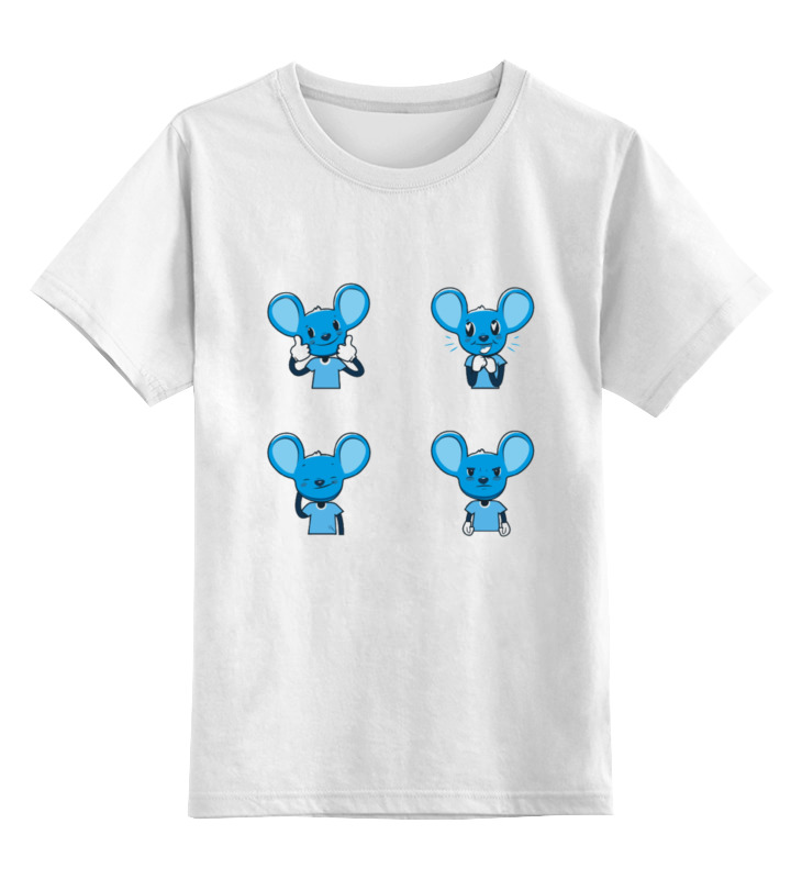 Детская футболка классическая унисекс Printio Mouse dan футболка классическая printio mecha mouse