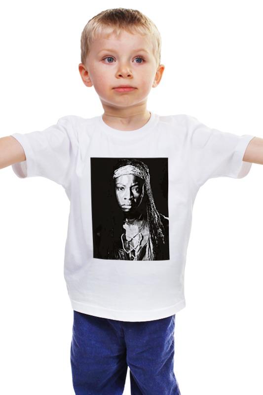 Детская футболка классическая унисекс Printio The walking dead michonne худи print bar the walking dead