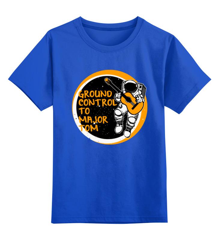 Детская футболка классическая унисекс Printio Космонавт с гитарой цена и фото