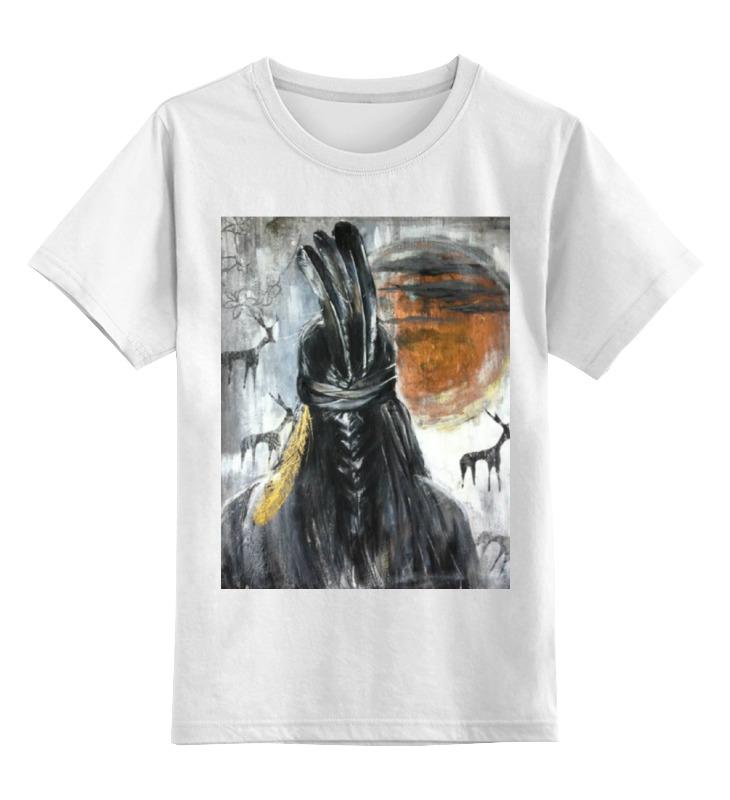 Детская футболка классическая унисекс Printio Индеец цена и фото