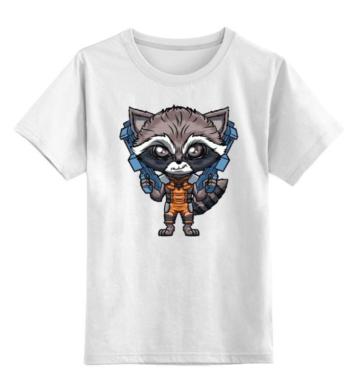 Детская футболка классическая унисекс Printio Енот детская футболка классическая унисекс printio забавный енот