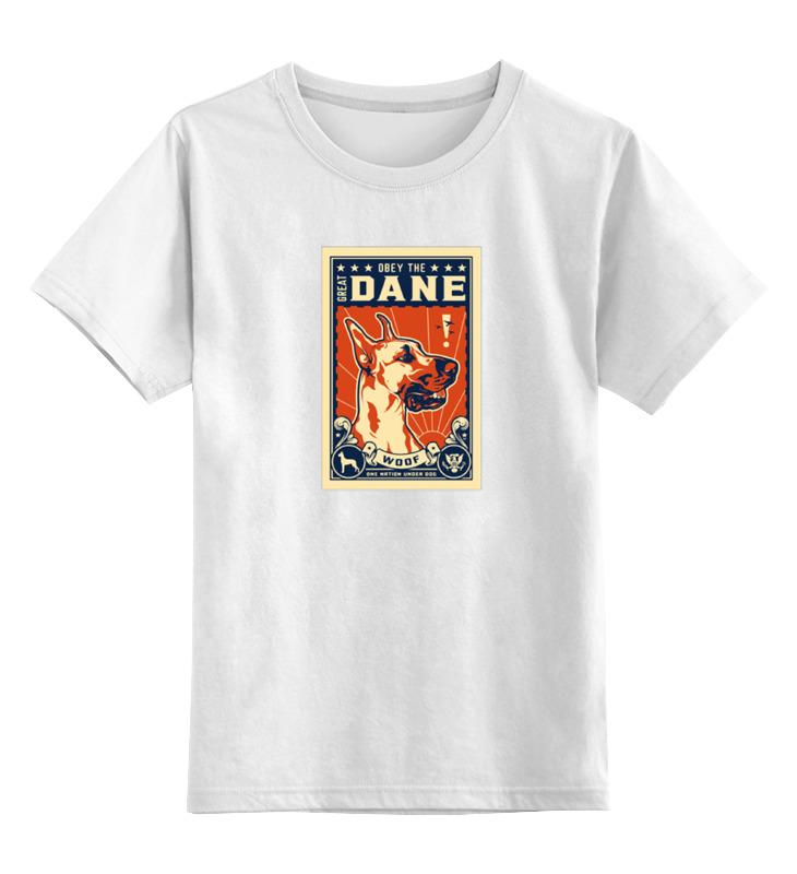 Детская футболка классическая унисекс Printio Собака: great dane футболка с полной запечаткой для девочек printio great dane