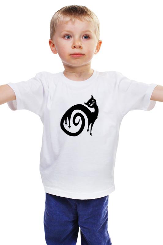 Детская футболка классическая унисекс Printio Черный кот детская футболка классическая унисекс printio зубастая рыбка