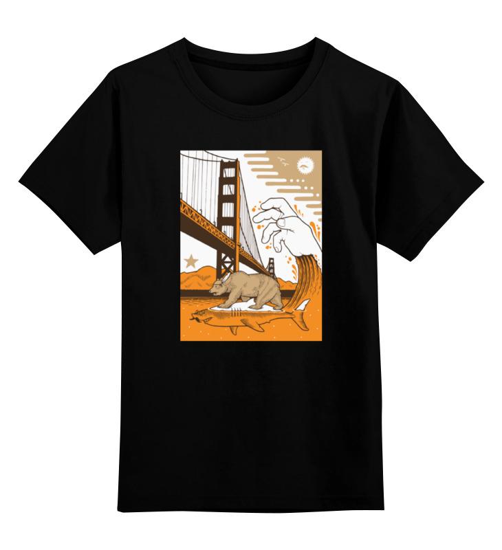 Детская футболка классическая унисекс Printio Bear on shark / медведь на акуле детская футболка классическая унисекс printio bear beer медведь