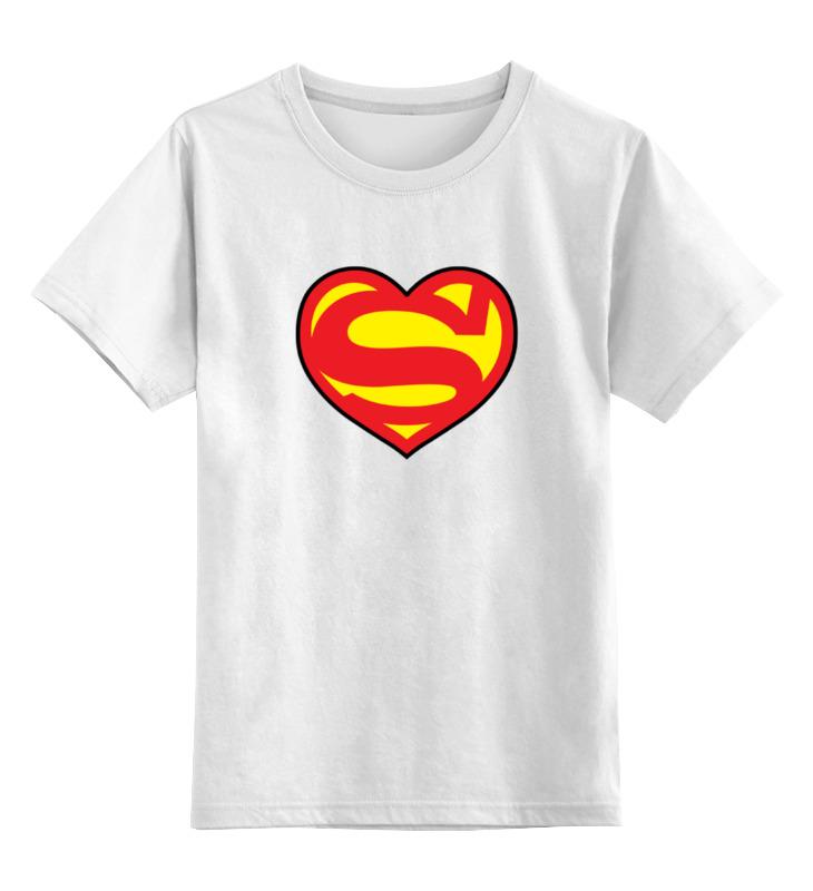 Детская футболка классическая унисекс Printio Супермен любовь цена и фото