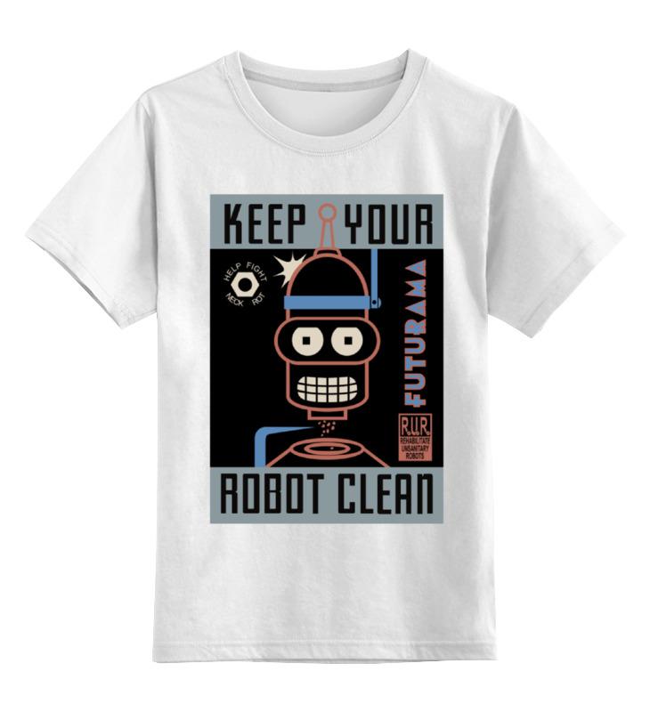 Фото - Детская футболка классическая унисекс Printio Keep your robot clean детская футболка классическая унисекс printio sad robot