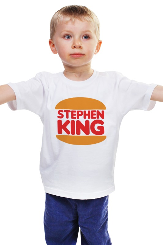 Детская футболка классическая унисекс Printio Стивен кинг футболка print bar стивен кинг