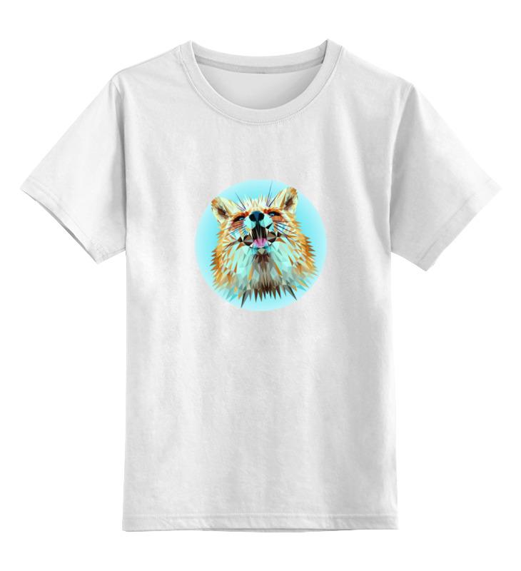 Детская футболка классическая унисекс Printio Лисица low poly лонгслив printio low poly skull