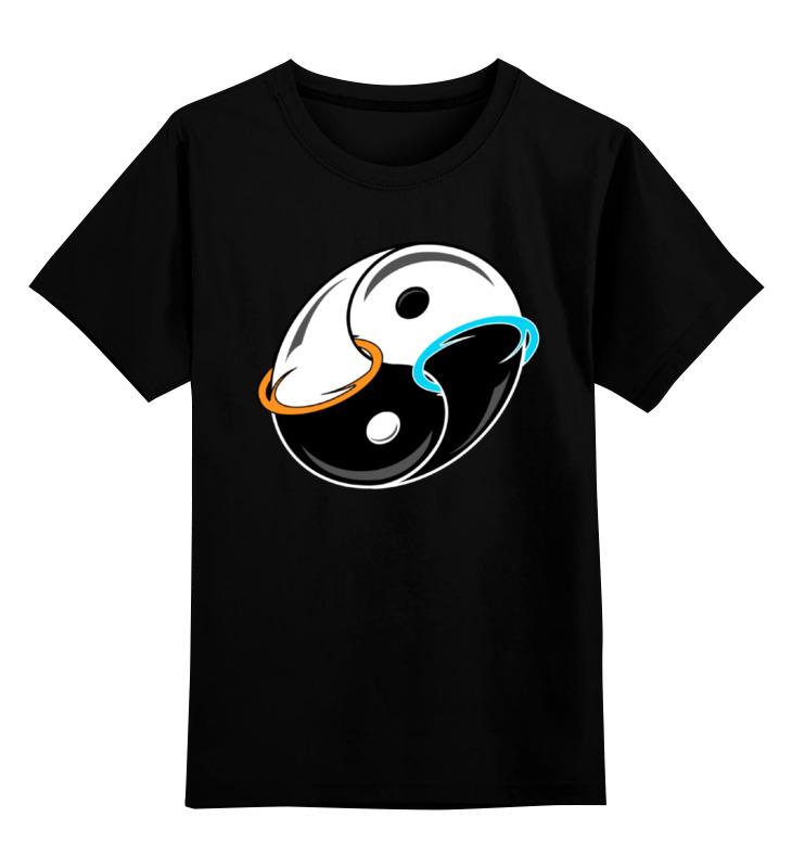 Детская футболка классическая унисекс Printio Инь и ян (портал) цена