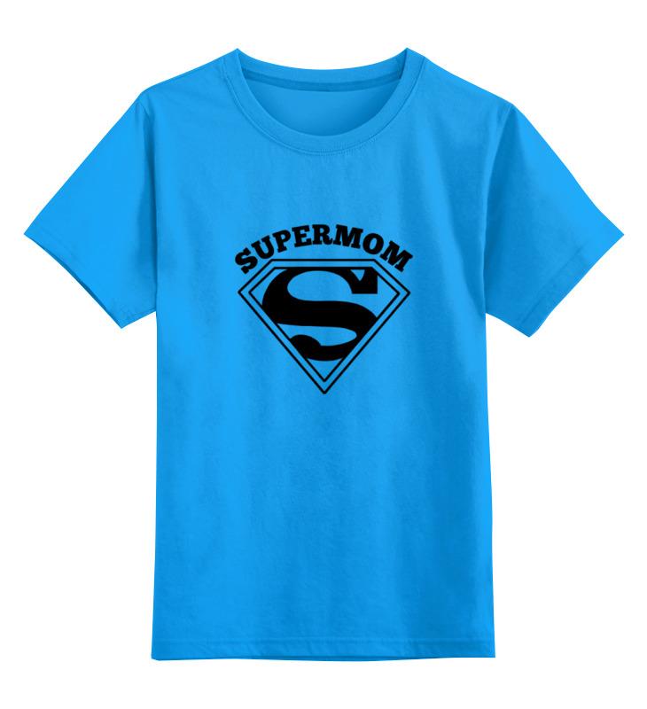 купить Детская футболка классическая унисекс Printio Супермама (supermom) недорого