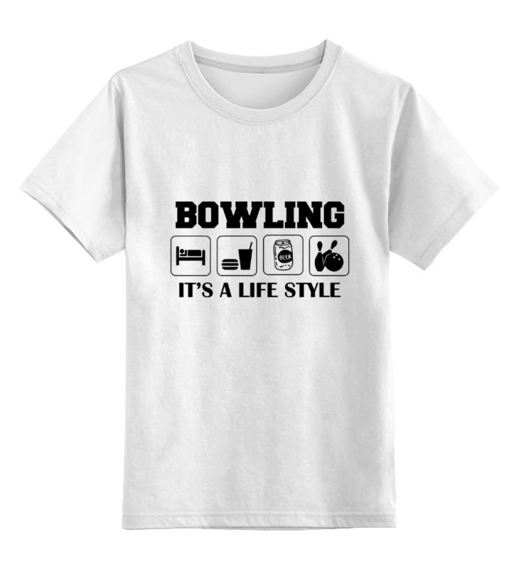 Детская футболка классическая унисекс Printio Боулинг детская футболка классическая унисекс printio люблю боулинг