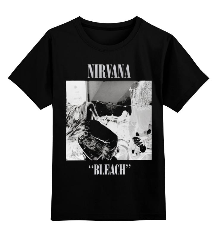 Детская футболка классическая унисекс Printio Nirvana bleach album t-shirt