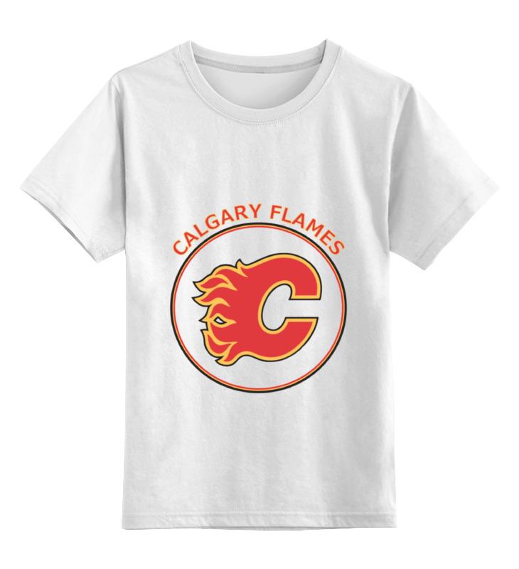Детская футболка классическая унисекс Printio Calgary flames, свитшот print bar calgary flames
