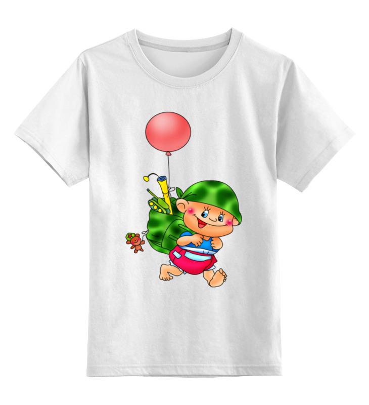 Детская футболка классическая унисекс Printio Малыш с игрушками. детская футболка классическая унисекс printio неизвестный солдат