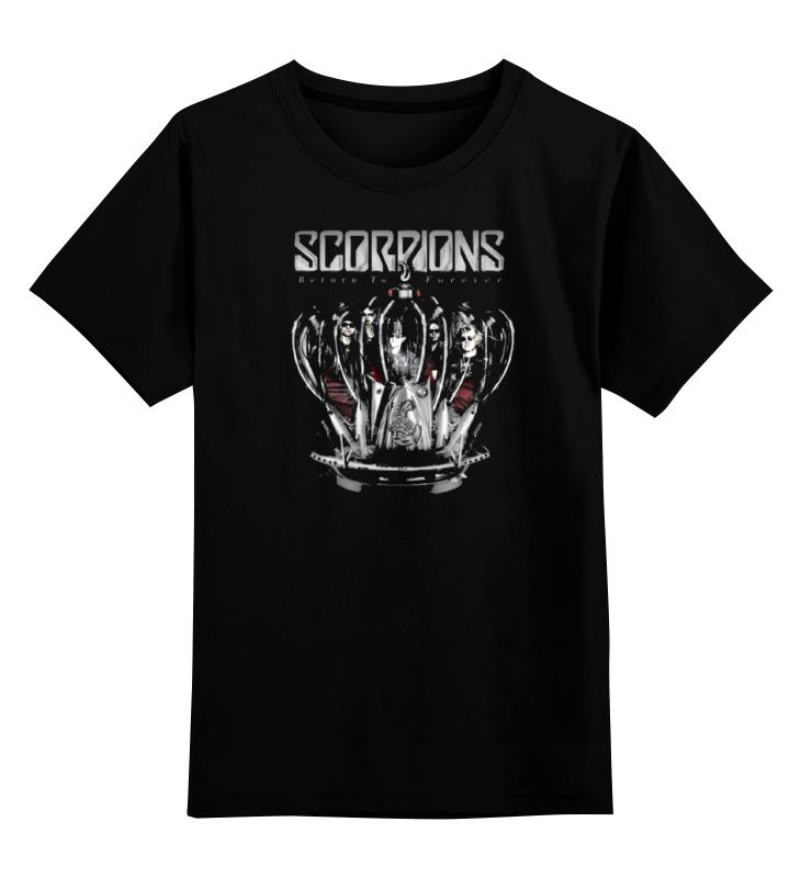 Детская футболка классическая унисекс Printio Scorpions - return to forever цена