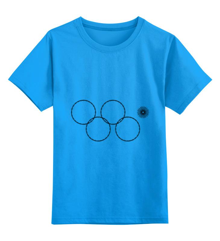 Детская футболка классическая унисекс Printio Олимпийские кольца в сочи 2014