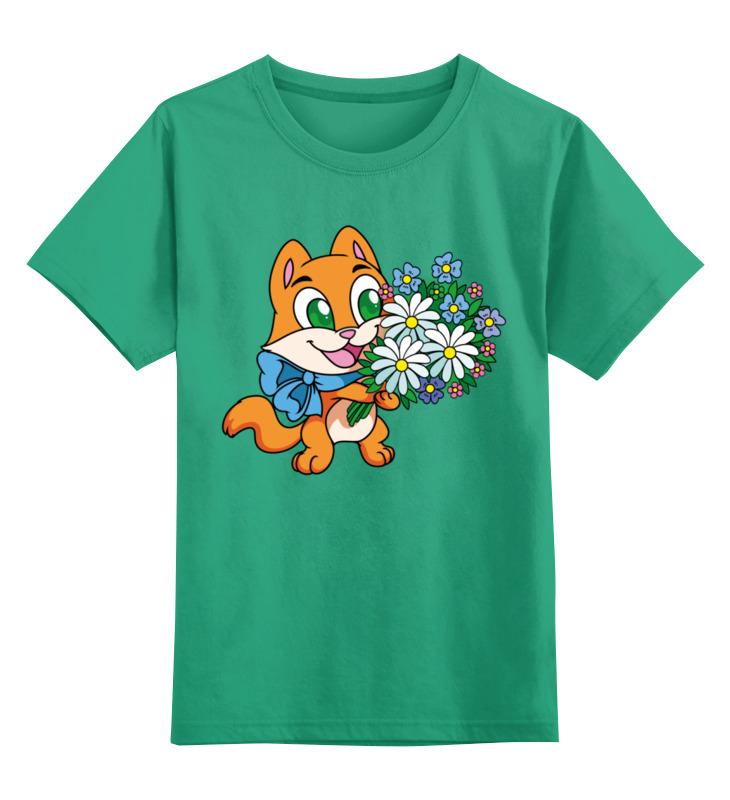 Детская футболка классическая унисекс Printio Зверек с цветами детская футболка классическая унисекс printio муравьед с цветами