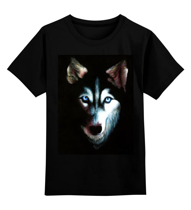 где купить Детская футболка классическая унисекс Printio Husky дешево