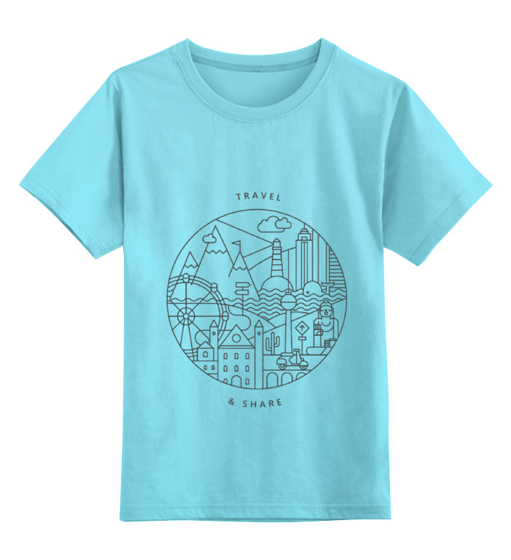 Детская футболка классическая унисекс Printio Be global   montok global global adv workbook