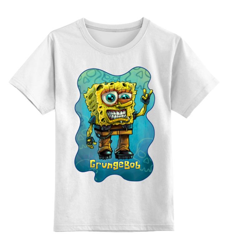 Детская футболка классическая унисекс Printio Grungebob (спанч боб) детская футболка классическая унисекс printio боб марлей bob marley