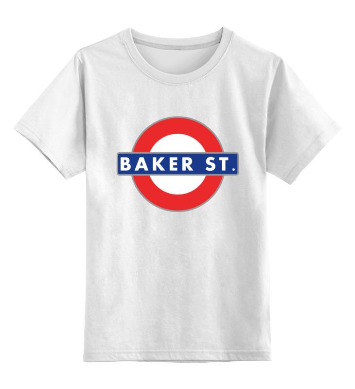 Детская футболка классическая унисекс Printio Бейкер-стрит (шерлок) майка print bar 221b baker street