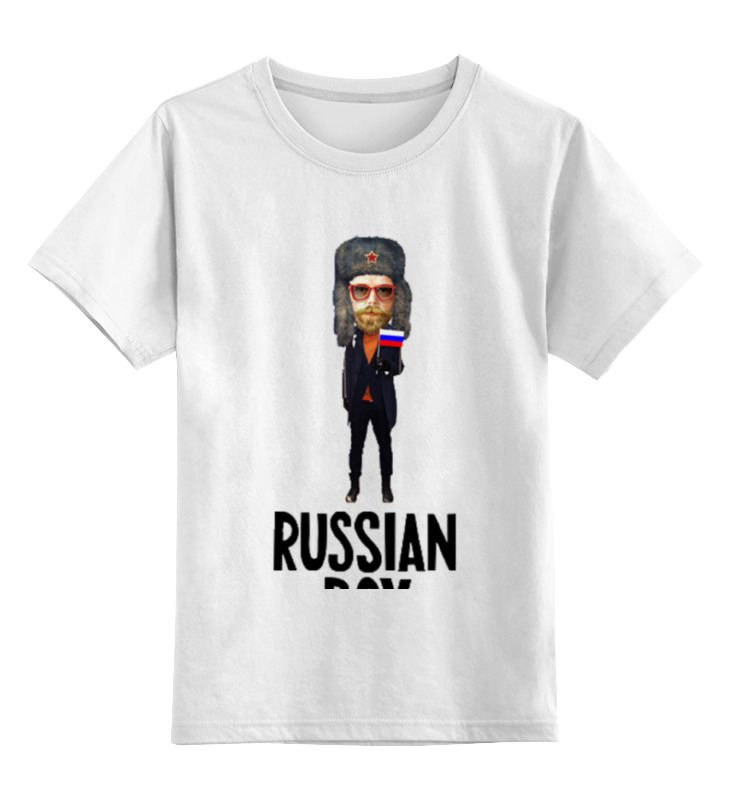 Детская футболка классическая унисекс Printio Russian boy russian phrase book