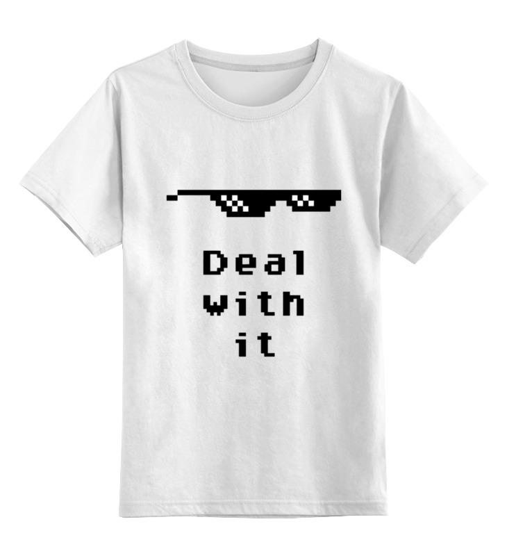 Детская футболка классическая унисекс Printio Пиксельные очки (deal with it) клей активатор для ремонта шин done deal dd 0365