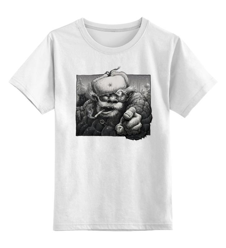Детская футболка классическая унисекс Printio дед в ушанке детская футболка классическая унисекс printio дед мороз
