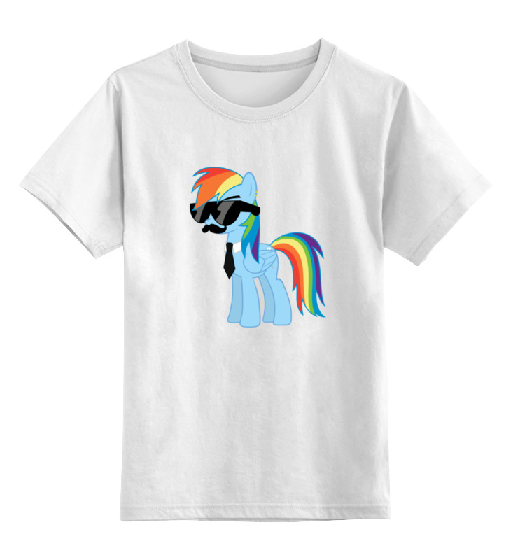 Детская футболка классическая унисекс Printio My little pony - rainbow dash (радуга) badge applique striped stand collar baseball jacket