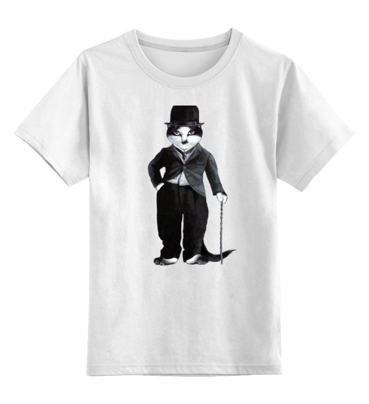 Детская футболка классическая унисекс Printio Cat charlie