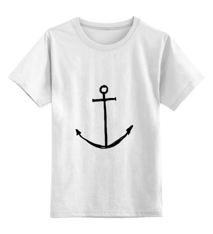 Детская футболка классическая унисекс Printio Якорь футболка для беременных printio держись сильнее за якорь