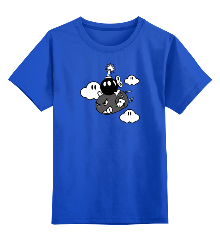 Детская футболка классическая унисекс Printio Бомба из марио сумка printio бомба из марио