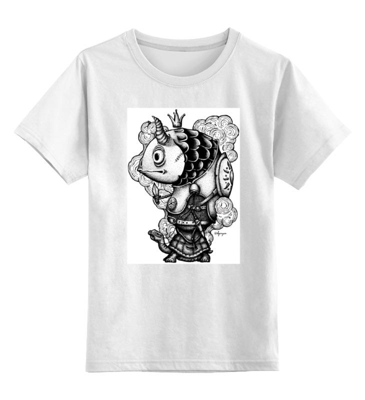 Детская футболка классическая унисекс Printio Рыба-воин олег ольхов рыба морепродукты на вашем столе