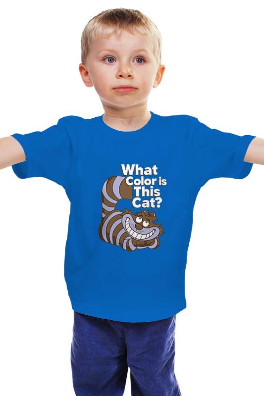 Детская футболка классическая унисекс Printio Какого цвета кот? (чеширский кот)