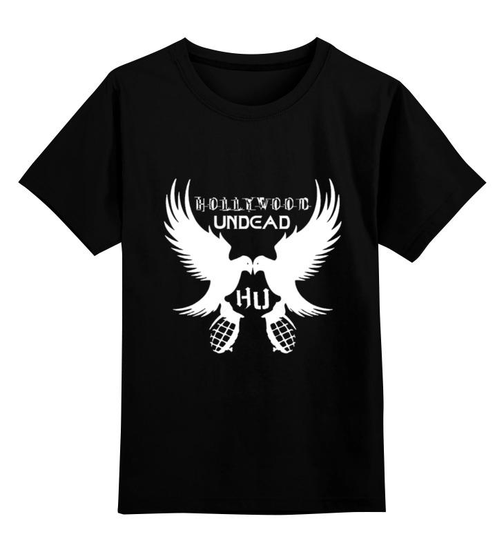Детская футболка классическая унисекс Printio Hollywood undead hollywood english