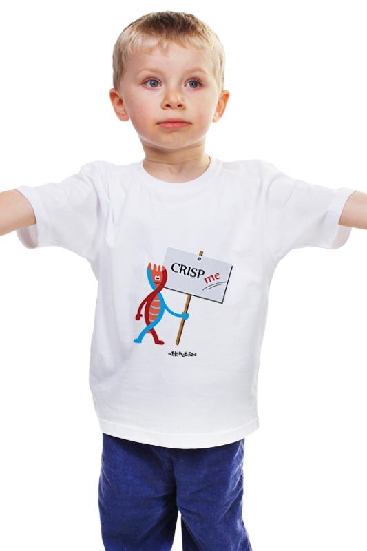 Детская футболка классическая унисекс Printio Crisp me
