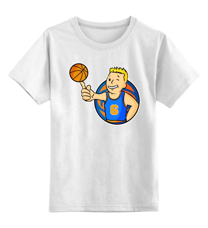 Детская футболка классическая унисекс Printio Кристапс порзингис (фоллаут) футболка с полной запечаткой printio нью йорк никс