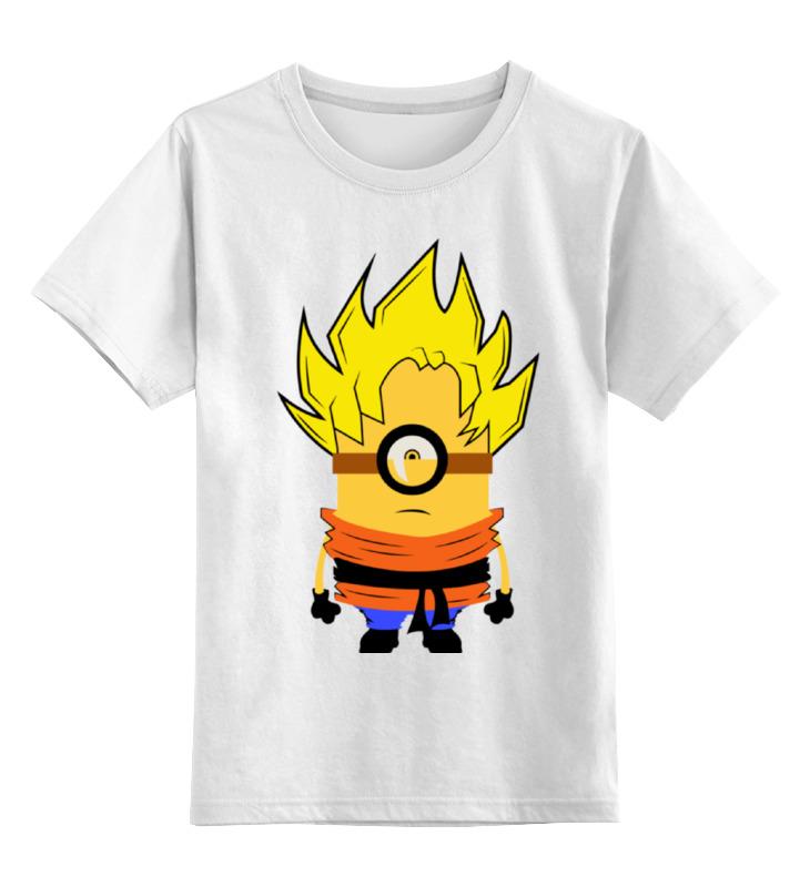 Детская футболка классическая унисекс Printio Миньон сон гоку цена и фото