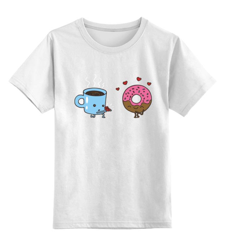 Детская футболка классическая унисекс Printio Кофе и пончик